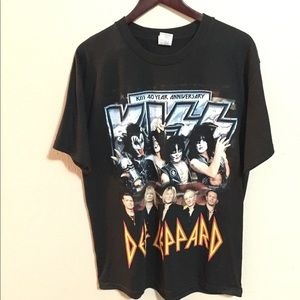 KISS 40 Year / Def Leppard Tour 2014 Tee Large